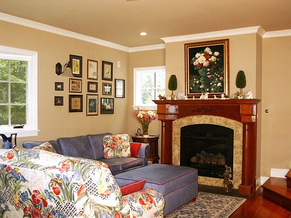 Decorating Corner Fireplace Mantel