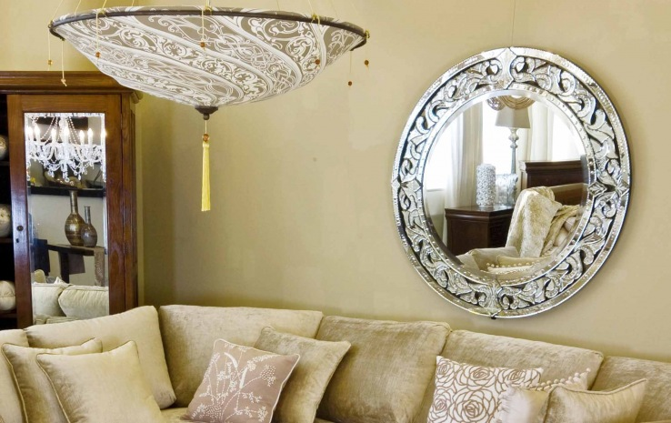 Large Oval Venetian Mirror