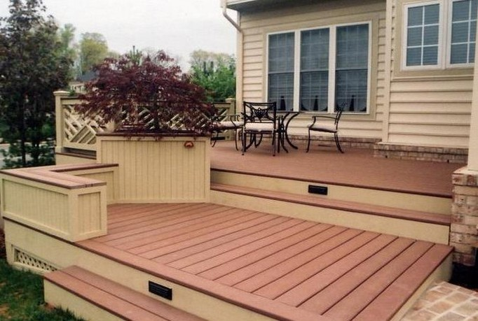 Tips to build patio and deck for Outside decking material