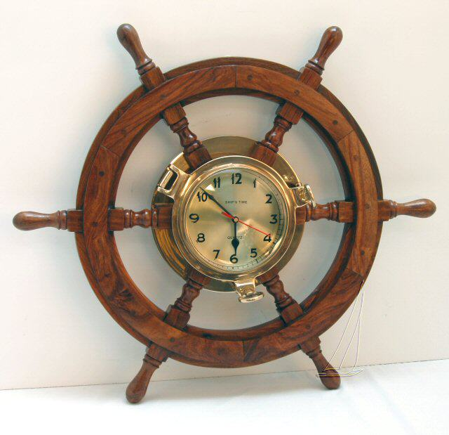 Wooden Nautical Clock