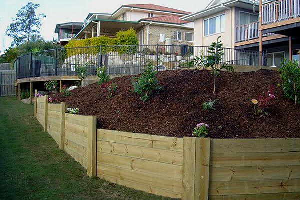 Wooden Retaining Walls Ideas