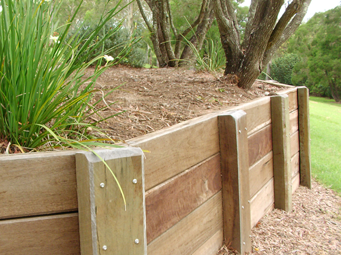 Wooden Retaining Walls