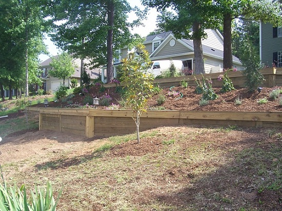 Retaining Wall Railroad Ties Pictures