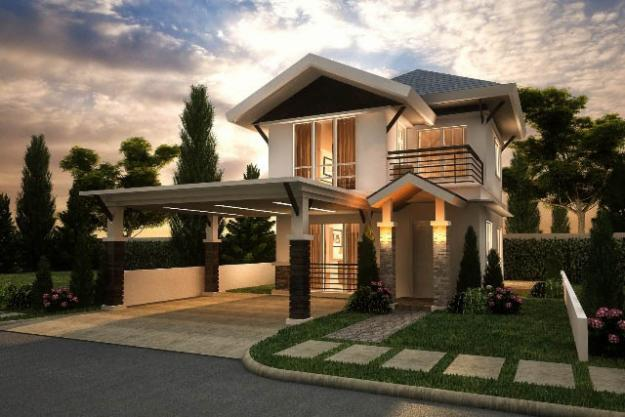 150 sqm house design - Simple House Design With Second Floor