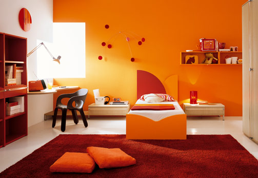 Brown And Orange Room
