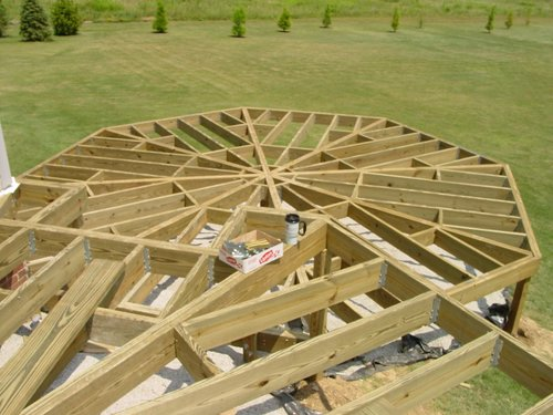 tips to decorate half octagon deck On octagon deck plans