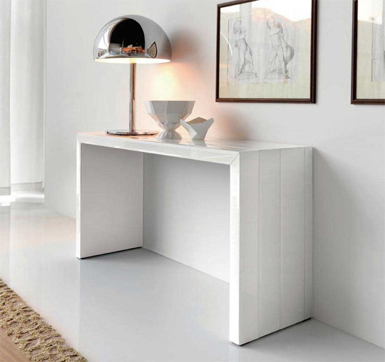 Contemporary Table Console White