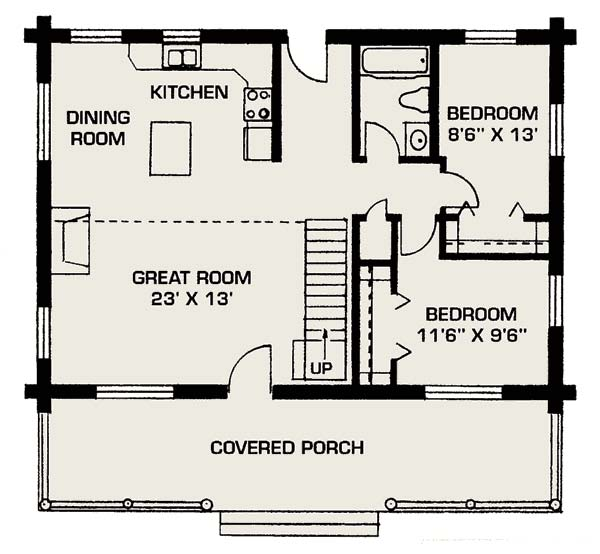Floor plan small house for Compact home floor plans