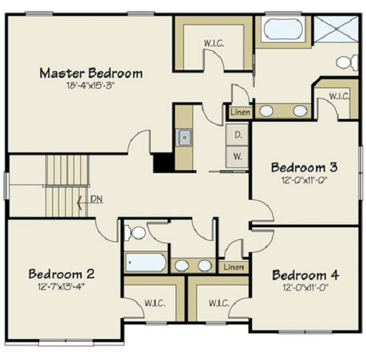 Astonishing Small House Plan With Open Floor Plan 21210Dr 2Nd Floor Master Inspirational Interior Design Netriciaus