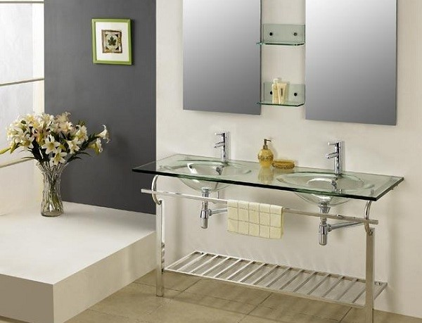 Glass Bathroom Vanities