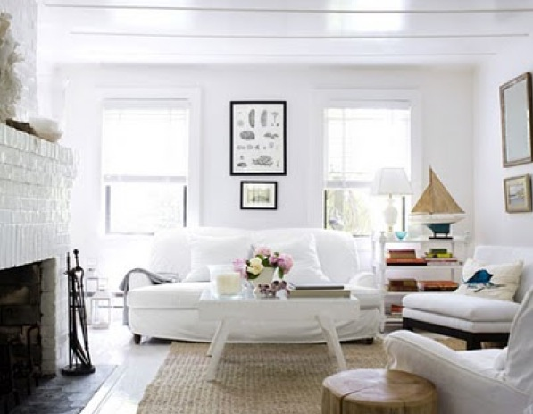 Living Room White Walls