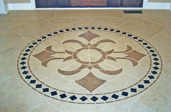 Tips to beautify room with marble Unique floor tile designs