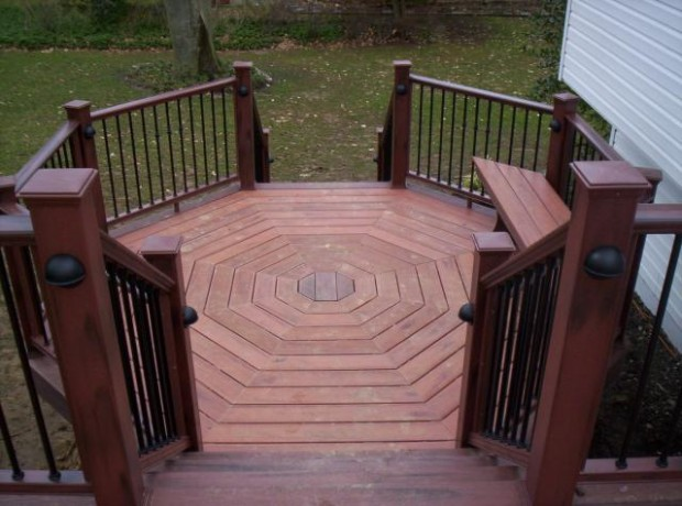 Tips to decorate half octagon deck for Octagon deck plans free