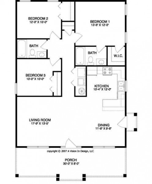 3 ideas for building small house for Blueprint of a house with measurements