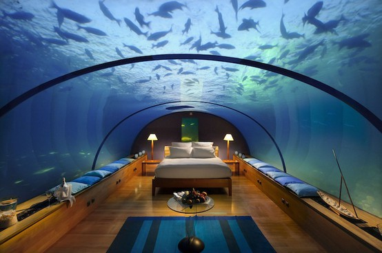 Teen Girl Underwater Bedroom