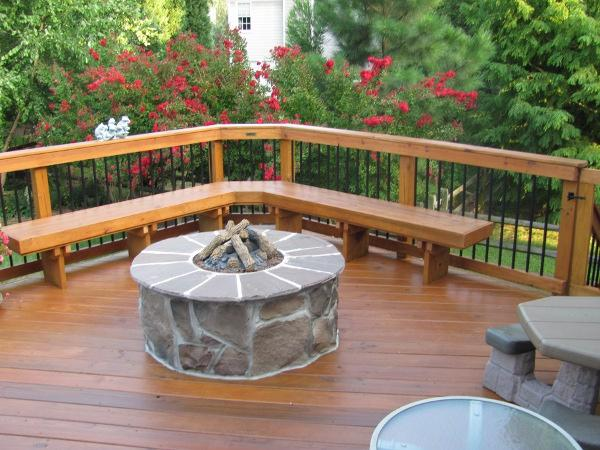 Wood And Stone Deck Designs