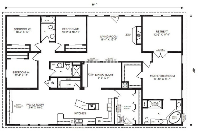 Attractive Modular Home Floor Plans Design Inspirations