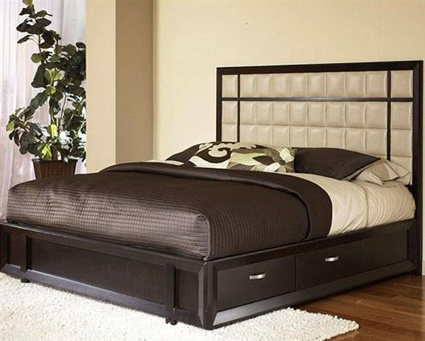 Bed designs in wood with box for Bed design photos