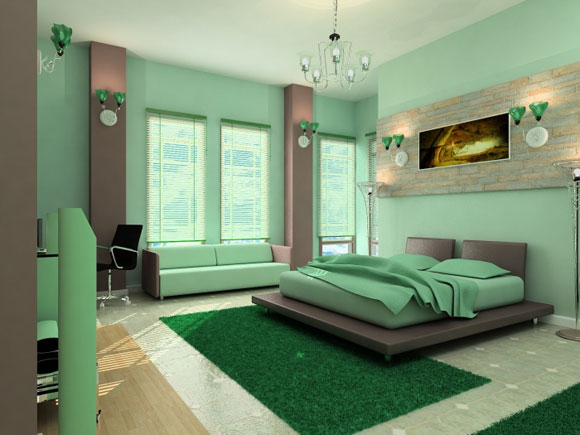 Green Colored Bedrooms