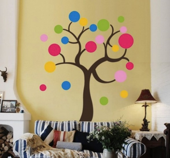 4 painting ideas for living room walls for Wall painting living room ideas