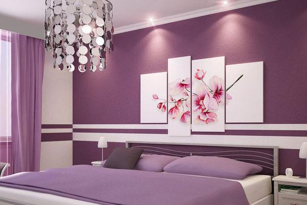 Beau Purple Bedroom Paint