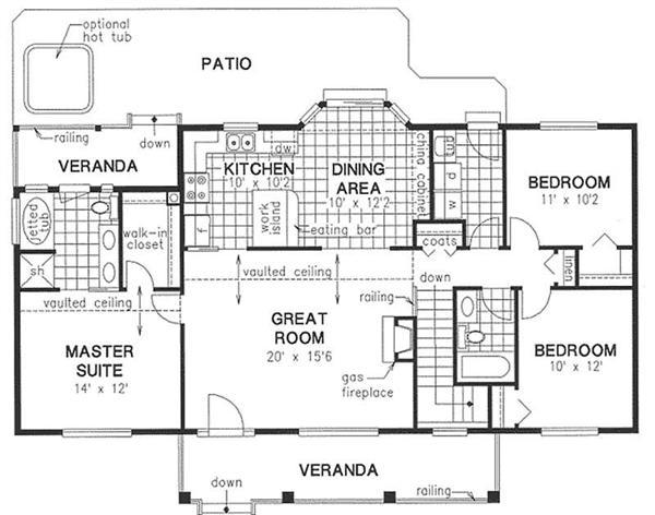simple house design with floor plan - Simple House Plans