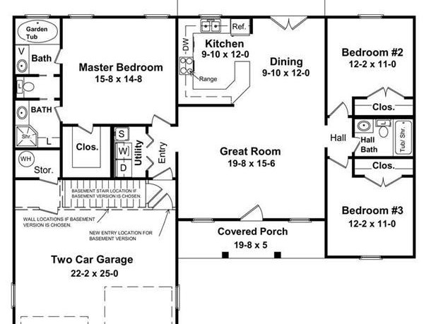 Tips To Plan Simple House Design With Floor Plan Under 1500 Square Feet – Small House Floor Plans With Basement