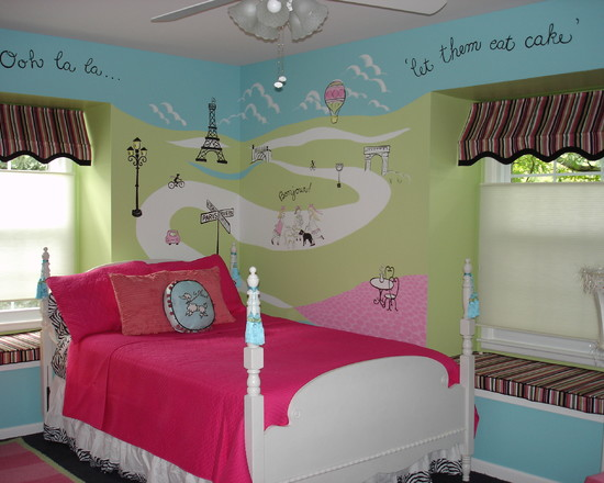 4 city theme ideas to decorate teenage girls bedroom for City themed bedroom designs