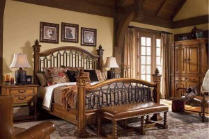 Traditional Wood Bed