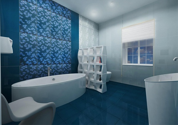modern bathroom tiles - Bathroom Tiles Color Combination