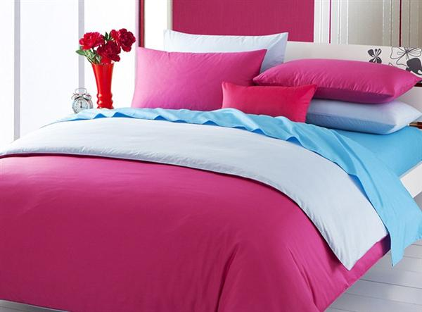 Pink And Blue Bedding