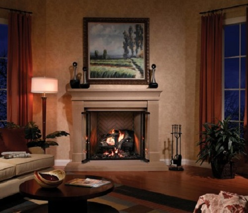 Fireplace In Corner