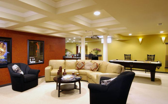Family room design ideas selection Basement room decorating ideas