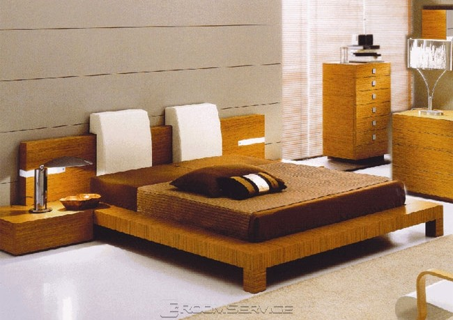 complete the bedroom with contemporary bed frame