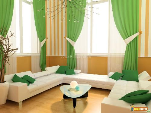 Curtain Ideas for Big Living Room Picture