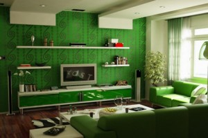 Decorating Living Room With Green Walls