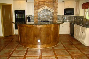 Kitchen Floor Tile Brick Pattern