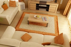 Little Living Room with Big Furniture Spacing Ideas Photo
