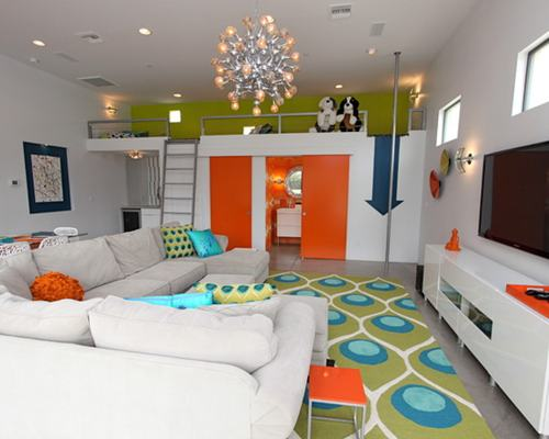 Modern Family Room Decor