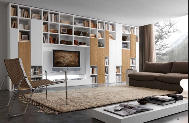 Contemporary Home Library modern home library design ideas