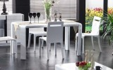 <b>Great Dinner in Modern White Dining Table</b>