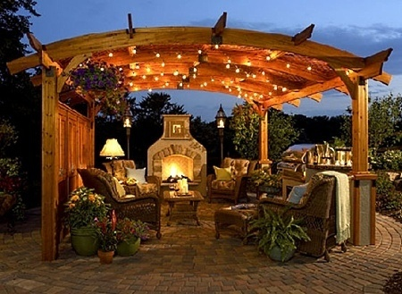 Outdoor Fireplace Design Pictures