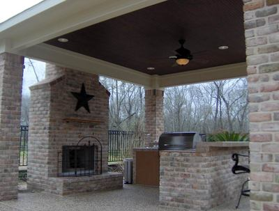 Outdoor Fireplace Pictures Stone