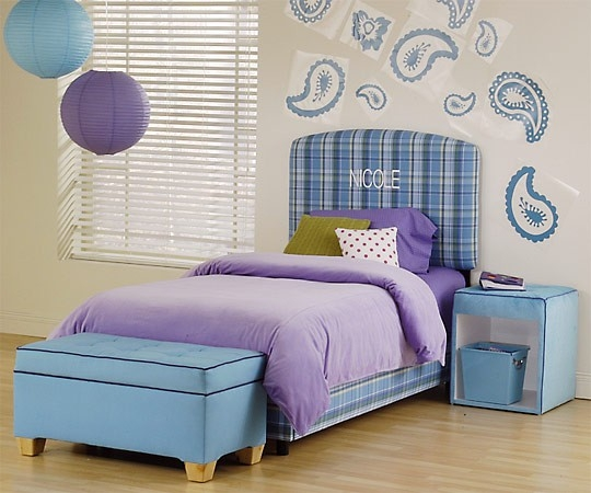 Purple and Blue Girls Bedrooms