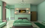<b>Bedroom with Green Bedroom Paint Colors</b>
