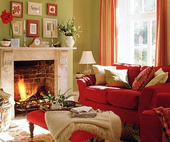 Sage Green and Red Rooms