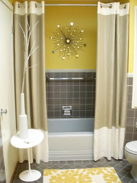 Yellow Grey Bathroom Ideas
