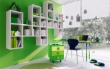 <b>Fresh House in Green Room Decorating Ideas</b>