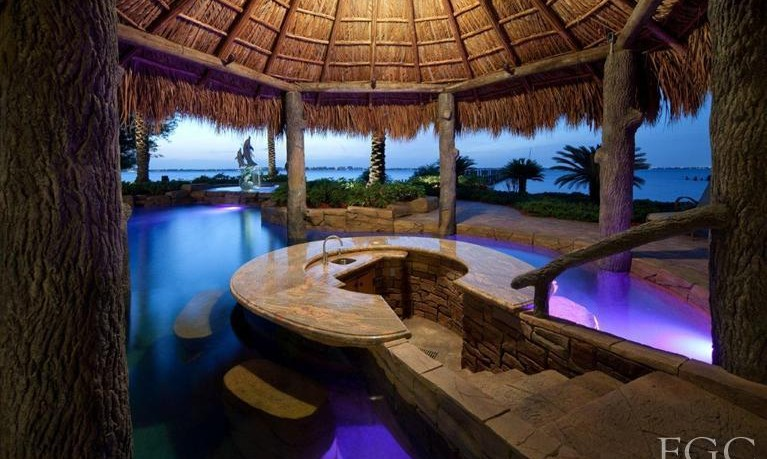 Backyard Pool Bar Ideas Pic