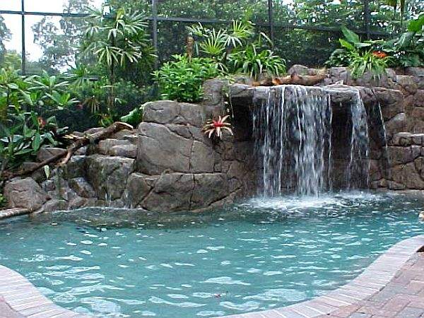 Backyard Pool Waterfall Pictures